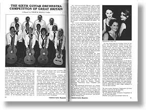 Article entitled The Sixth Guitar Orchestra Compeition of Great Britain