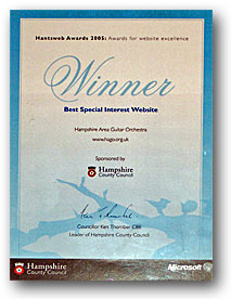 Certificate of web excellence