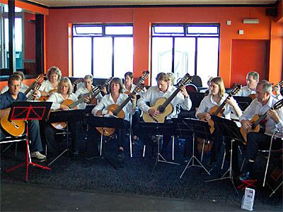 Hampshire Guitar Orchestra on Bognor Pier