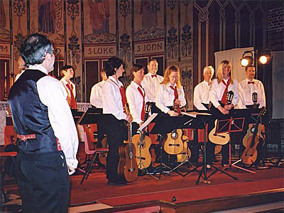 Hago's first concert is Cambridge Guitar Orchestra