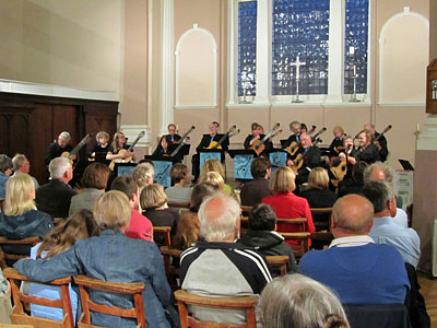 Cambridge Guitar Orchestra in concert in Portsmouth