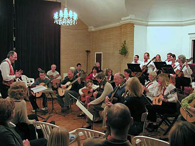 Hampshire Guitar Orchestra leading the Workshop