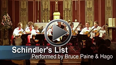 Video clip of Schindler's List (Hampshire Guitar Orchestra & Bruce Paine)