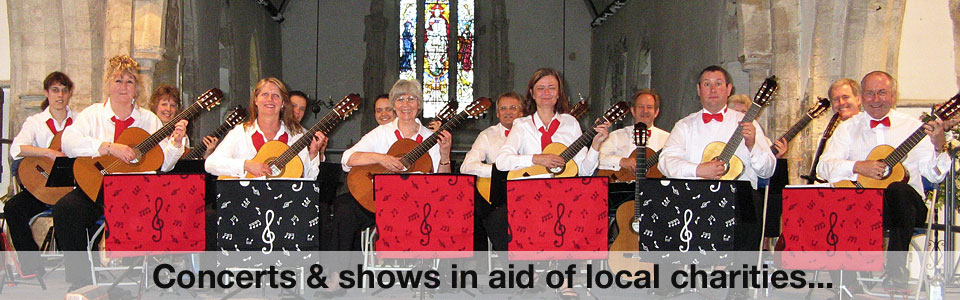 Hampshire Guitar Orchestra - welcome! Guitar concerts; innovative classical guitar ensemble playing for charities in Hampshire, Sussex, Wiltshire, including Southampton Portsmouth, Chichester.
