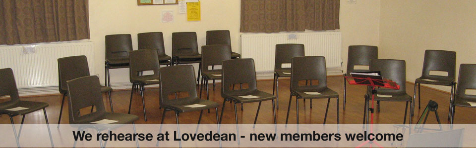 HAGO rehearse at Lovedean Village Hall - directed by Derek Hasted MA(Cantab) DipABRSM.
