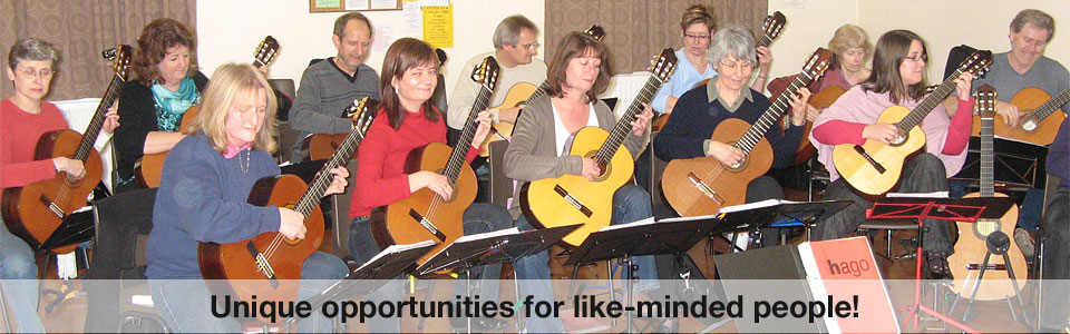 HAGO isn't a hampshire guitar club, it's a real orchestra! Places for classical players Grade 5-6 and above - enquire within! We have an on-line shop