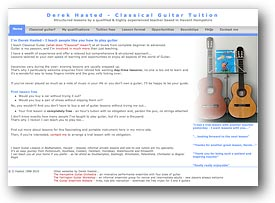 Guitar Lessons with Derek Hasted in the Havant and Portsmouth (SE Hampshire) area
