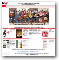 The Hampshire Guitar Orchestra (HAGO) website